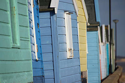 Photograph - Beach Huts Closeup by David Warrington