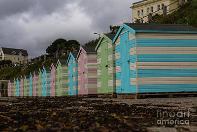 Photograph - Beach Huts Falmouth Cornwall by Brian Roscorla