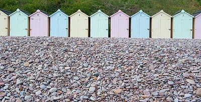 Photograph - Beach Huts Ix by Helen Northcott