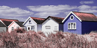 Photograph - Beach Huts Purple by Mick House
