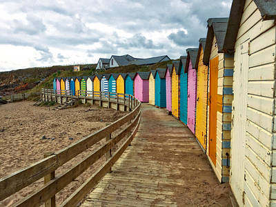 Beach Huts Art Print by RKAB Works
