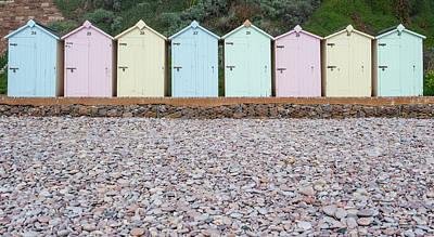 Photograph - Beach Huts V by Helen Northcott
