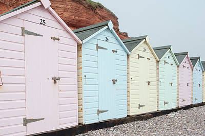 Beach Huts Vi Art Print
