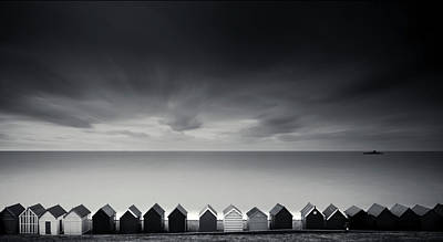 Built Structure Photograph - Beach Huts by Www.matthewtoynbee.net
