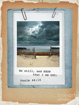 Photograph - Beach Image With Scripture by Jill Battaglia
