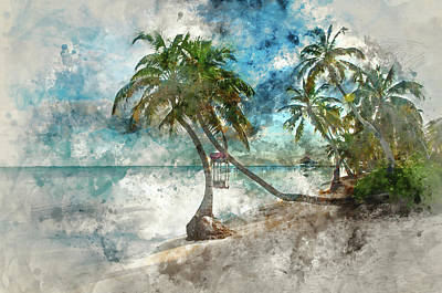 Photograph - Beach In Ambergris Caye Belize by Brandon Bourdages