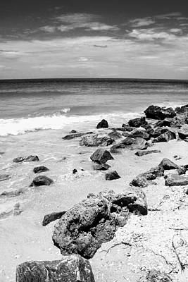 Photograph - Beach In Black And White by Carol Groenen