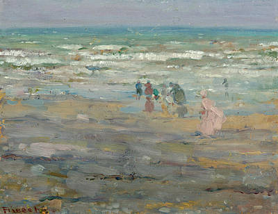 Painting - Beach In Corsica by Frederick Carl Frieseke