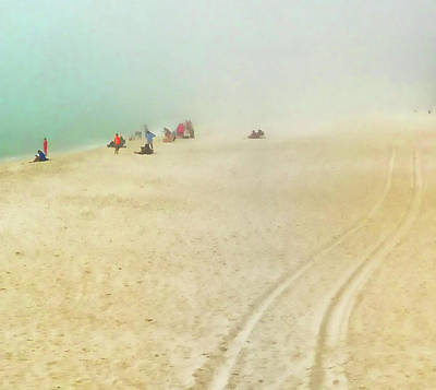 Photograph - Beach In Fog by Tony Grider