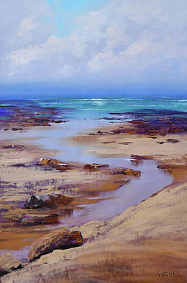 Paintings - Beach inlet by Graham Gercken