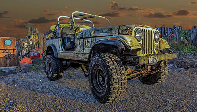 Photograph - Beach Jeep by Bill Posner