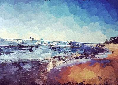 Lake Michigan Digital Art - Beach by Jennifer Whitworth