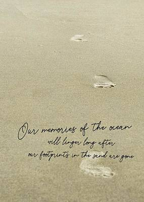 Photograph - Beach Jog Quote by JAMART Photography