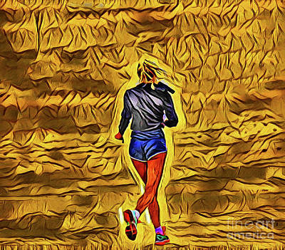 Photograph - Beach Jogger 20918 by Ray Shrewsberry