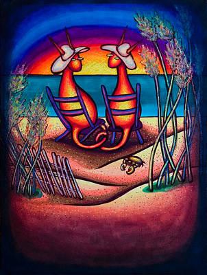 Beach Kats Art Print