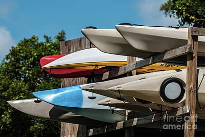Photograph - Beach Kayaks by Scott Hervieux