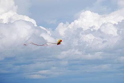 Beach Kite Art Print by Peter  McIntosh