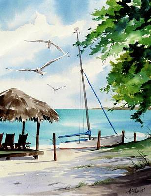 Painting - Beach Landing by Art Scholz