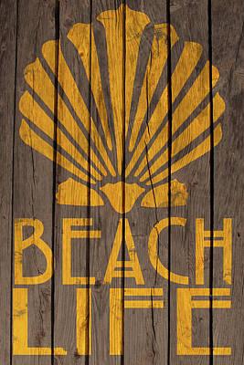 Digital Art - Beach Life Sign by WB Johnston