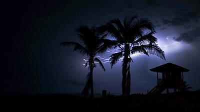 Photograph - Beach Lightning 2 Delray Beach Florida by Lawrence S Richardson Jr