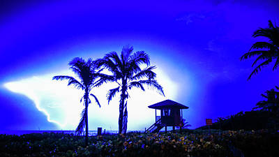 Photograph - Beach Lightning 3 Delray Beach Florida by Lawrence S Richardson Jr