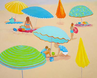 Beach House Decorating Painting - Beach Living by Jan Matson