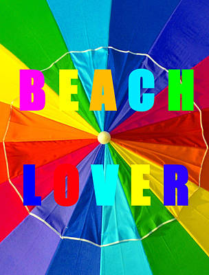 Beach Umbrellas Digital Art - Beach Lover Spca 1 by David Lee Thompson