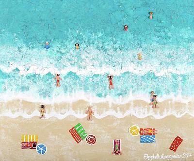 Painting - Beach Lovers by Elizabeth Langreiter