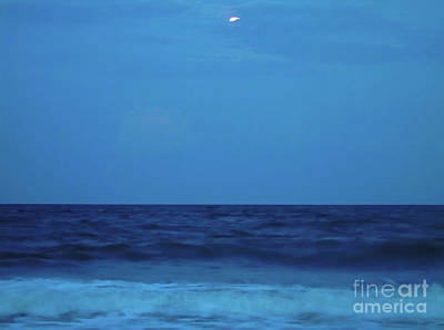 Photograph - Beach Magic With The Moon by D Hackett