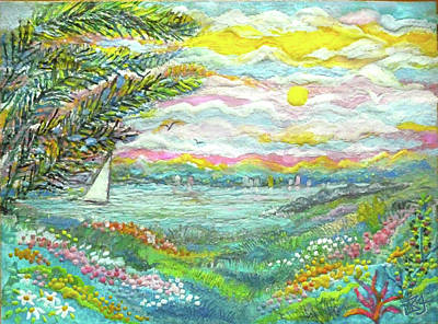 Digital Art - Beach Meadow by Jean Batzell Fitzgerald