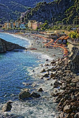 Beach Monterosso Italy Dsc02467 Art Print by Greg Kluempers