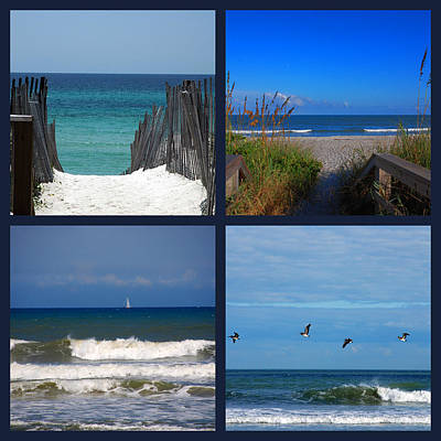 Beach Scenes Photograph - Beach Multiples by Susanne Van Hulst