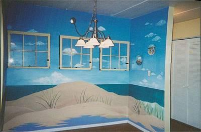 Painting - Beach Mural by Anna Villarreal Garbis