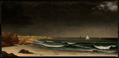 Beach Near Newport Art Print