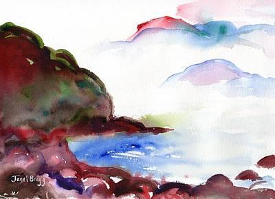 Painting - Beach Near Seattle by Janel Bragg