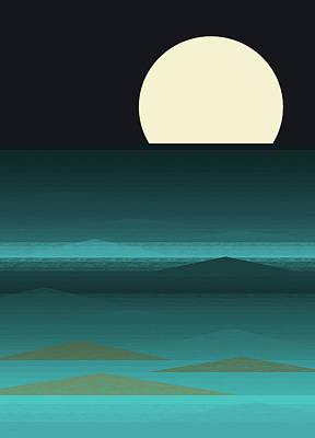 Digital Art - Beach Nights by Val Arie