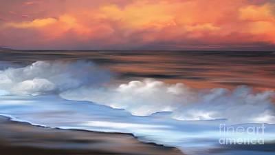 Beach Oasis Art Print by Anthony Fishburne