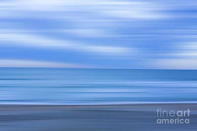 Sound Digital Art - Beach Ocean Blur by Randy Steele