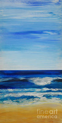 Painting - Beach Ocean Sky by Shelley Myers