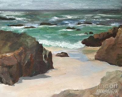 Painting - Beach Of Asilamor by Claire Gagnon