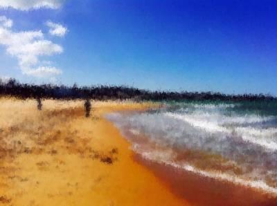Beach Of Heaven  Art Print by Chiheb Eddine Fatnassi