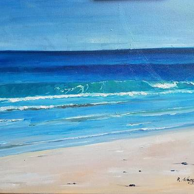 Painting - Beach Of Wells by Rose Wang