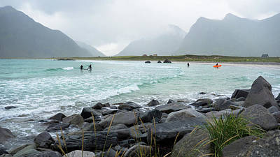 Photograph - Beach On Lofoten Best Place For Arctic Surfing by Tamara Sushko