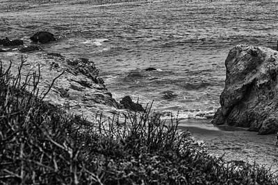 Photograph - Beach Overlook Bw by Robert Hebert