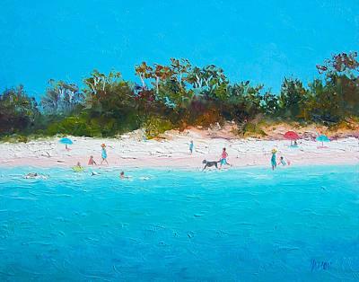 Tropical Art Painting - Beach Painting All Summer Long by Jan Matson