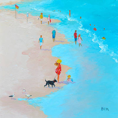 Beach Painting - Beach Day - By Jan Matson Art Print