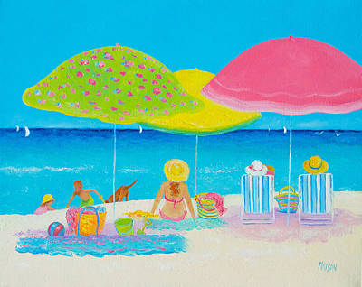 Cottage Painting - Beach Painting - Beach Life by Jan Matson