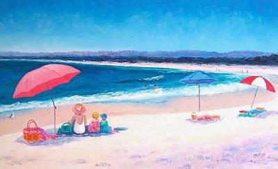 Beach Painting - Beach Umbrellas Art Print
