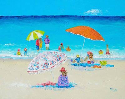 Painting - Beach Painting - Blazing Hot  by Jan Matson