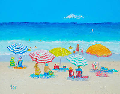 Beach Painting - Catching The Breeze Art Print